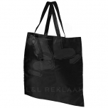 Take-away foldable shopping tote bag with keychain