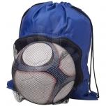Eesmärgi nööriga seljakott jalgpalliruumiga
