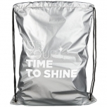 Be Inspired shiny drawstring backpack