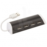 Power 4-port USB hub and smartphone stand