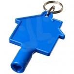 Maximilian house-shaped meterbox key with keychain